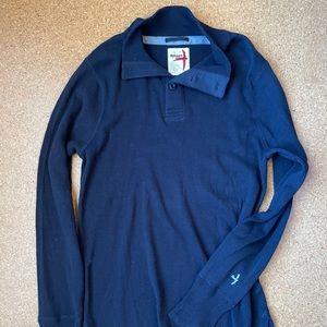 Relwen Donegal Mock Sweater